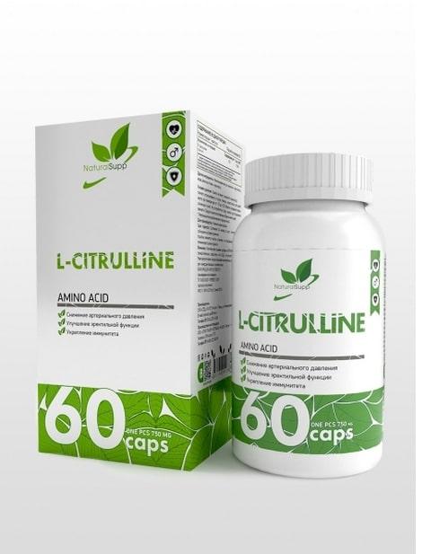 L-Citrulline NaturalSupp 60 капсул