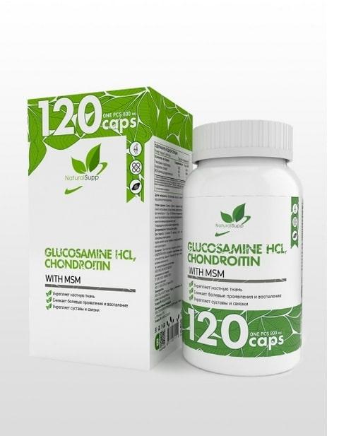 Glucosamine HCL, Chondroitin, MSM NaturalSupp 120 капсул