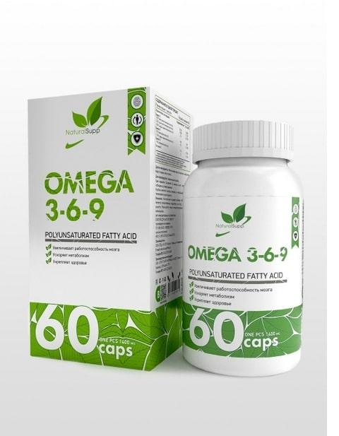 Omega 3-6-9 NaturalSupp 60 капсул