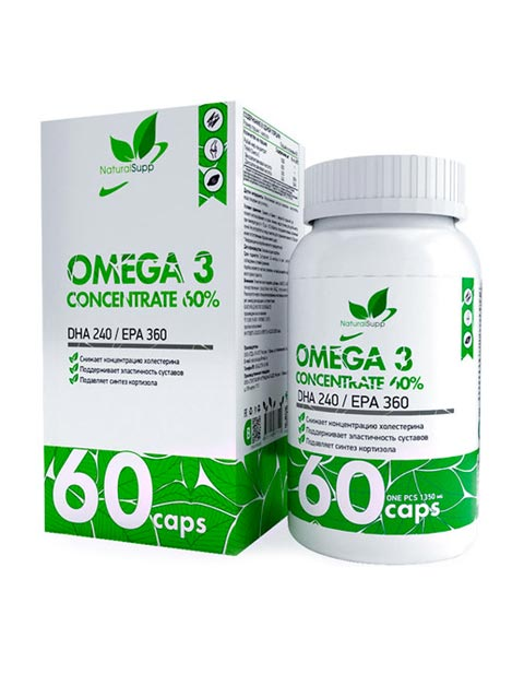 Omega 3 60% NaturalSupp 60 капсул
