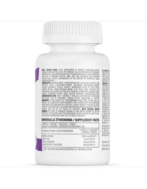 Biotin Plus Ostrovit 100 таблеток