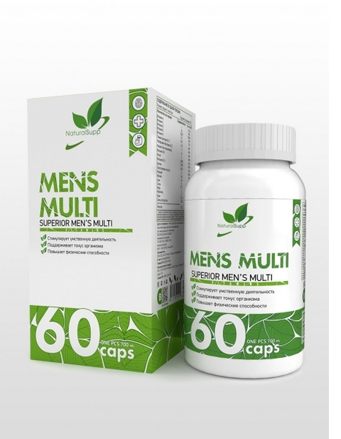 Mens Multi NaturalSupp 60 капсул