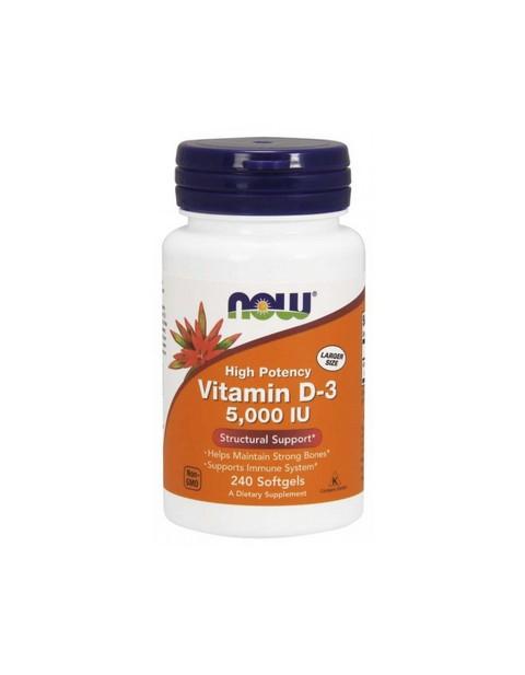 Vitamin-D3 5000 IU Now 240 капсул
