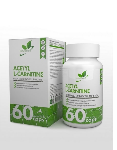 Acetyl L-Carnitine NaturalSupp 60 капсул