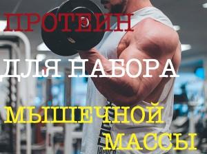 Протеин в помощь при наборе мышечной массы