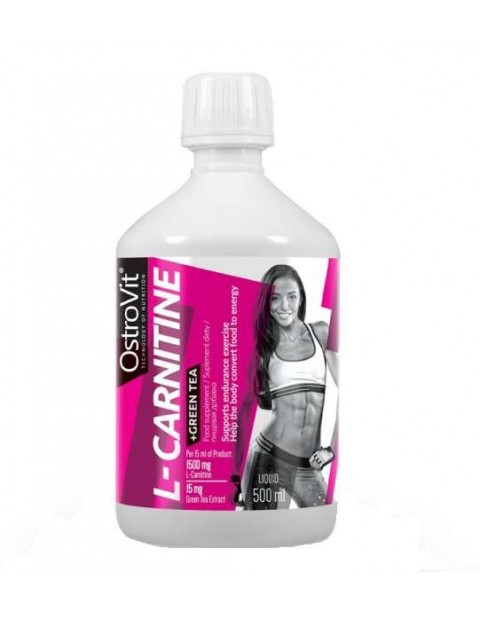 Л-КАРНИТИН OSTROVIT L-CARNITINE + GREEN TEA 500 МЛ