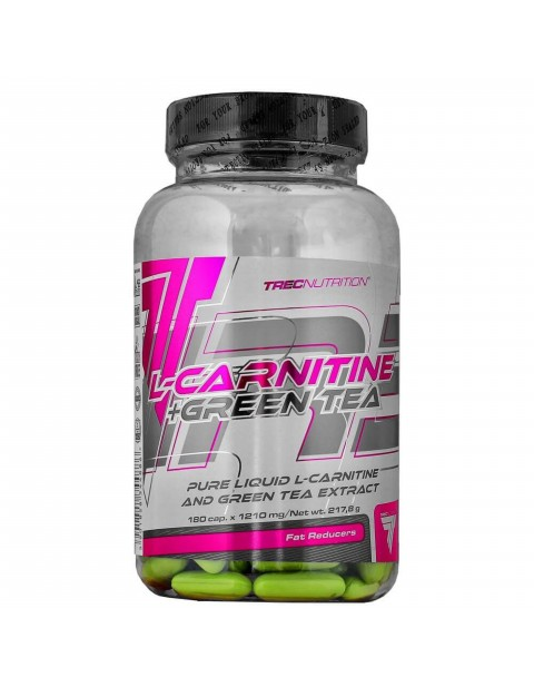 Л-КАРНИТИН TREC NUTRITION L-CARNITINE+GREEN TEA 180 КАПСУЛ
